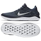 Nike Free RN Flyknit 2018 942838 400 College Navy/White Men's Running Shoes (9.5)