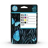 HP 953 6ZC69AE, Negro, Cian, Magenta y Amarillo, Cartuchos de Tinta Originales, Pack de 4, para impresoras HP OfficeJet Pro serie 8200, 8700 y 7700