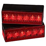 Attwood 14064-7 LED Low-Profile Trailer Light Kit — 2 Stop/Tail/Turn Submersible LED Lights, License Plate Bracket, Wiring Harness