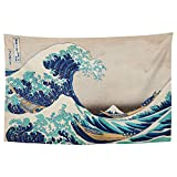 YongColer The Great Wave Japan Tapestry, Wall Decor Art Tapestry Hanging for Living Room Kitchen Outdoor Dorm Bedroom, 60 X 40 Inches