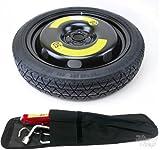 TOURAN - Kit de ruedas y herramientas de repuesto para ahorro de espacio de 40 cm