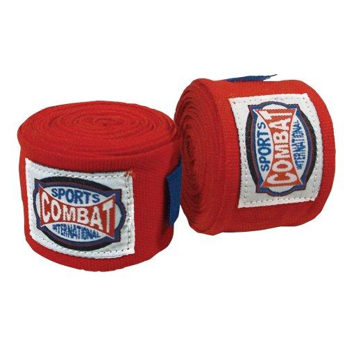 Combat Sports Elastische Handbandagen, Einheitsgröße, Rot