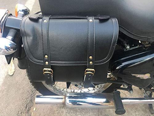 SaharaSeats Back Seat Square Saddle Bag for Royal Enfield (Black)