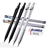 Mechanical Pencil 0.5, 0.7mm 2 Sizeswith Eraser and HB Lead Refills, 7Piece Kit Metal Automatic Pencils .Drawing,...