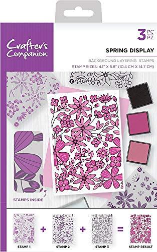 Crafter's Companion - A6 Hintergrundschichtung von Acrylstempeln - Federanzeige