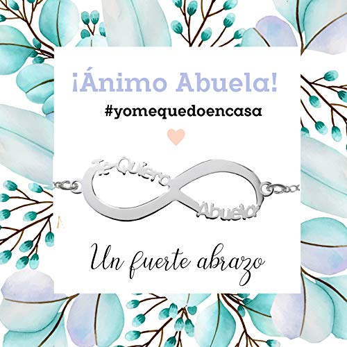 Pulsera Infinito Te Quiero Abuela de Plata de Ley 925 - Regalos para dar ánimo #YoMeQuedoEnCasa