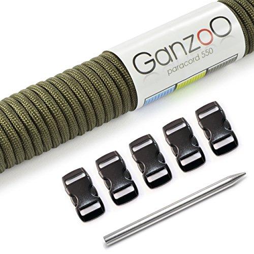 Paracorde 550 corde avec fermeture et aiguille, bracelet, collier de chien, 15m