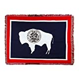 The Northwest Company's Wyoming State Flag Woven Jacquard Throw Blanket, 46' x 60', Multi Color