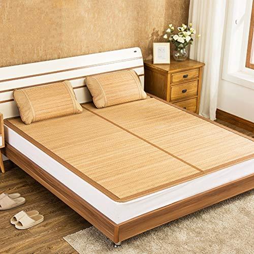Estera de bambú Colchón Fresco, colchoneta de Paja de Ropa de Cama Mats para Dormir de Verano Matera de Cama Plegable Dormitorio de la casa Dormitorio Estudiante Dormitorio Multifuncticomfortable