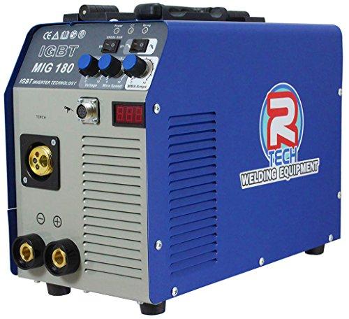 Mig Welder 180A 240V Portable Inverter, inc. Torch & Leads, 3 Year UK Warranty