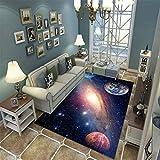LGXINGLIyidian Casa Alfombra Hermoso Planeta En El Vasto Universo. Alfombra Suave Antideslizante De Decoración del Hogar De Impresión 3D 120X180Cm