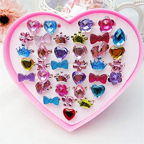 RG-FA 1 Box Phantasie Einstellbare Edelstein Ringe Prinzessin Party Favors Kinder Mädchen Geschenke Action Figure Spielzeug