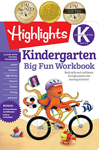 The Big Fun Kindergarten Activity Book: Build skills and confidence through puzzles and early learni...