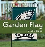 American Football Home Garden Flags Double Sided, Burlap House Yard Decoration, America Patriotic Rustic Seasonal Yard Flags 12.5 x 18 Inch