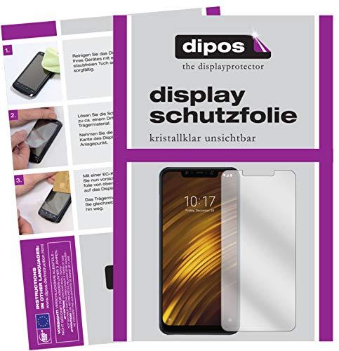 dipos I 6X Schutzfolie klar kompatibel mit Xiaomi Pocophone F1 Folie Bildschirmschutzfolie