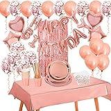 VAINECHAY de cumpleaños Fiesta Globoss y Vajilla Desechable,de latex Kits de decoraciones...