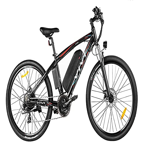 Vivi E Bike Mountainbike Ebike Herren 27.5 Zoll Elektrofahrrad 350W/500W Elektrisches Fahrrad mit 36V 10.4 Lithium-Batterie und Shimano 21 (27.5 Zoll 500W Rot)