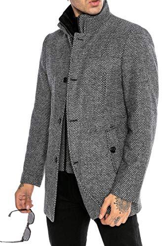 Redbridge Capote para Hombre Abrigo con Chaleco elegante Transformable Honeycomb Gris XXL