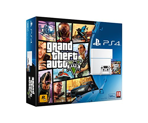 Sony PlayStation 4 White 500GB with GTA V - [Edizione: Regno Unito]