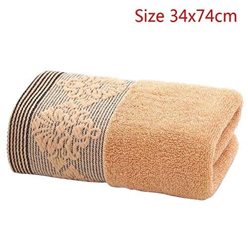 Mdsfe 4 Farben Baumwolle 32 Stränge saugfähiges Handtuch Dicke Baumwolle festes Badetuch Erwachsenen Strandtuch schnell trocken weich - A-Kaffee, a2