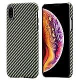 pitaka Magnetische Hülle Kompatibel mit iPhone XS (5,8') MagEZ Case Handyhülle Aramidfaser...