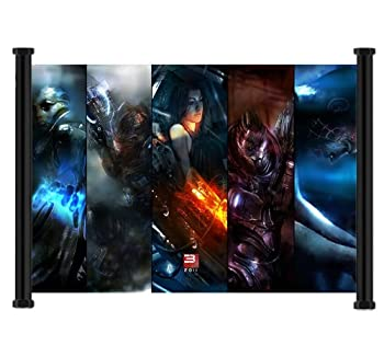 Mass Effect 3 Game Fabric Wall Scroll Poster  26 x16   Inches