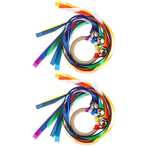 Toddmomy Juego de 2 anillos de mano con diseño de arcoíris para niños pequeños, juguete...