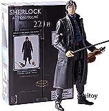 N / A Anime Figurine Sherlock Figura de accin Detective Sherlock Holmes con telfono violn crneo poseable Brazos Modelo Coleccionable en PVC