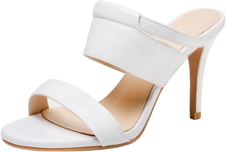 TAOFFEN Women High Heels Fashion Mules