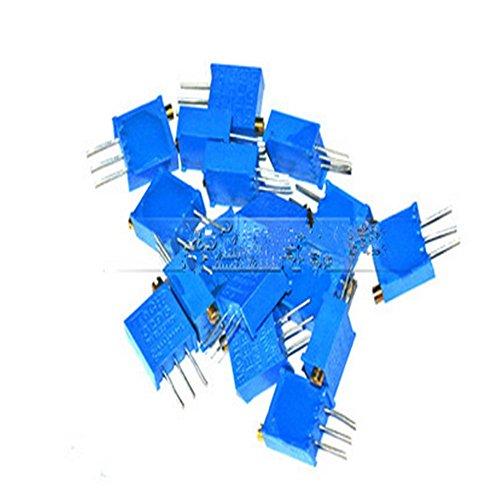 85pcs 3296W Einstellbare Potentiometer Cermet Trimmer Pack 10ohm - 2M 17 Werte