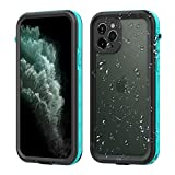 GuangDu iPhone 11Pro Max Waterproof Case, IP69K Certified with Touch ID Underwater Full Body Cover SandProof Shockproof Snowproof for Apple iPhone 11 iPhone 11Pro (Grass Blue,iPhone 11)