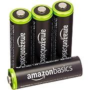 AmazonBasics AA Ni-MH Pre-Charged Rechargeable Batteries - 1000 Cycle (Typical 2000mAh, Minimum 1900mAh)