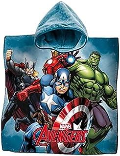 Accappatoio Marvel Avengers per ragazzi Black Panther e Capitan America Grigio 3-4 Anni