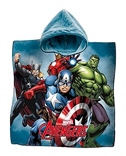 Albornoz poncho toalla algodón Avengers Iron Man Hulk Capitán América playa niños