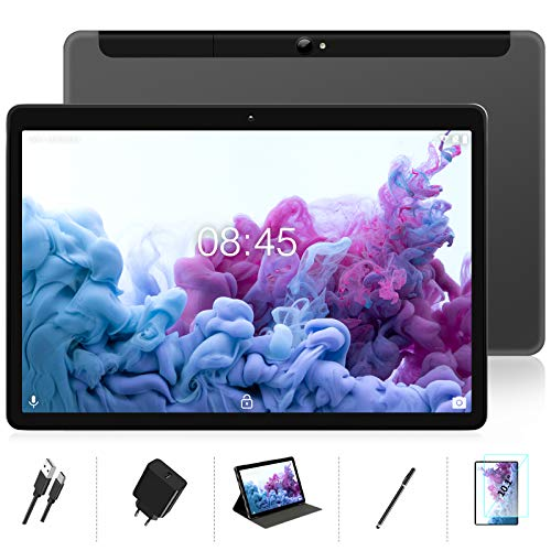 MEBERRY Tablet 10 Pulgadas Android 10.0 Ultrar-Rápido Tablets 4GB RAM + 64GB ROM - WI-FI+Cellular | Certificación Google GMS | Dual SIM + Doble Cámara | 8000mAh | Bluetooth | GPS - Gris