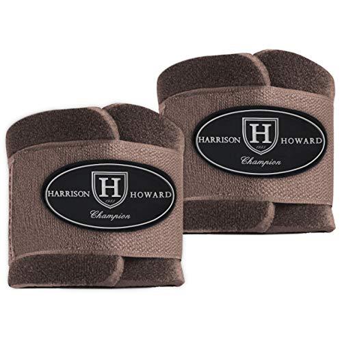 Harrison Howard Carenetic Pastern Wraps für Pferde, Braun