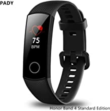 Huawei Honor Band 4 6-Axis Inertial Heart Rate Monitor Infrared Light Wear Detection Sensor Full Touch AMOLED Color Screen Home Button All-in-One Activity Tracker 5ATM Waterproof (Meteorite black)