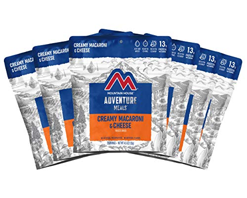 Mountain House Creamy Macaroni & Cheese | Freeze Dried Backpacking & Camping Food | 6-Pack