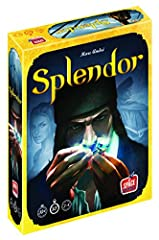 Splendor is a game of chip-collecting and card development. Players are merchants trying to buy gem mines, means of transportation, shops—all in order to acquire the most points. Recommended age 10 and up Number of Players: 2 to 4 Game Time: 30 minut...