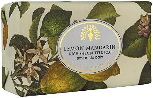 The English Soap Company, Vintage Wrapped Shea Butter Soap, Lemon Mandarin, 200g