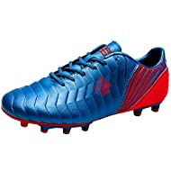 The PVC leather upper of football boots offers a great touch on the ball and a fantastic fit on foot. A classic tongue with shoelace hole ensures that the tongue stays centered through every movement. The anatomical curve follows the shape of your he...