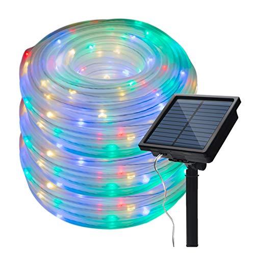 DZHT 10M LED Cadena De Energía Solar Luz De Hadas Luz De Tubo De Alambre De Cobre Iluminación Decorativa para Vacaciones Al Aire Libre para Jardín Calle Casa Árbol (Color : White Tube Light)