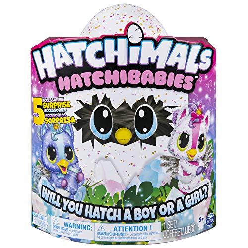 Hatchimals 6046468 - HatchiBabies Unikeet, Ei mit Baby - Hatchimal und interaktiven Accessoires