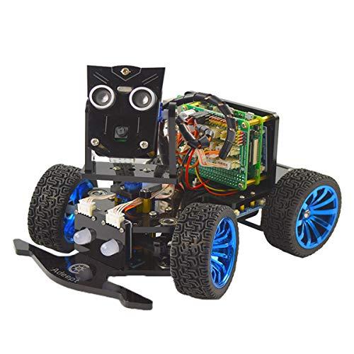 Adeept Mars Rover PiCar-B Wireless Robot Car Kit for Raspberry Pi 4/3 Model B+/B/2B, Speech Recognition, OpenCV Target Tracking, Real-time Video Transmission,Raspberry Pi STEM Educational Robot