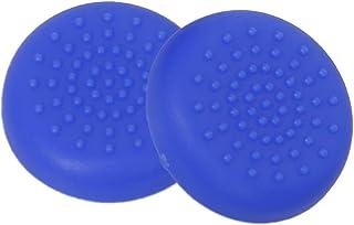 Baosity 6 Pair Joystick Thumbstick Caps For Sony PlayStation 4 Controller Black Blue