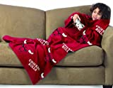 NBA Chicago Bulls Youth Comfy Throw, Blanket with Sleeves