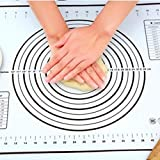 Nuovo Tappetino per impastare Tappetino da forno in silicone Stampo per pasta per pizza Pasticceria Cucina Gadget da cucina Bakeware Tovaglietta per teglia Teglia da forno-Nero, M