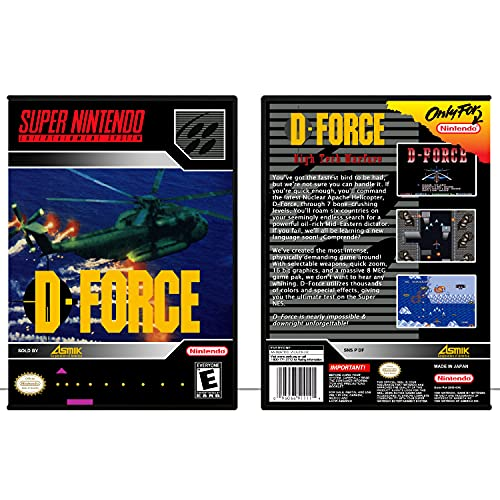 D-Force | SNES - Game Case Only
