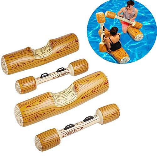 HOBFU Aufblasbares Spielzeug für Schwimmen, Sportspiele, Wasserspielzeug für Erwachsene, Kinder, Strand, Pool, Floating Flöße Toy für Wassersportspiele, 4-teilig