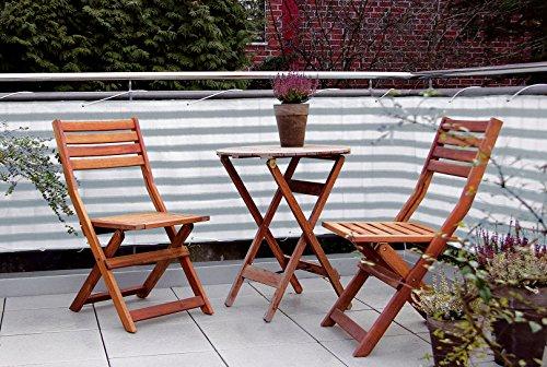 Spetebo Balkonsichtschutz 600 x 75 cm - Sichtschutz und Windschutz für den Balkon - Inkl. 24m Befestigungsseil